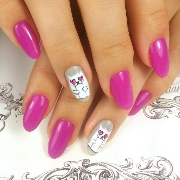 Valentines-Day-Nails-2017-64 50+ Lovely Valentine's Day Nail Art Ideas 2017
