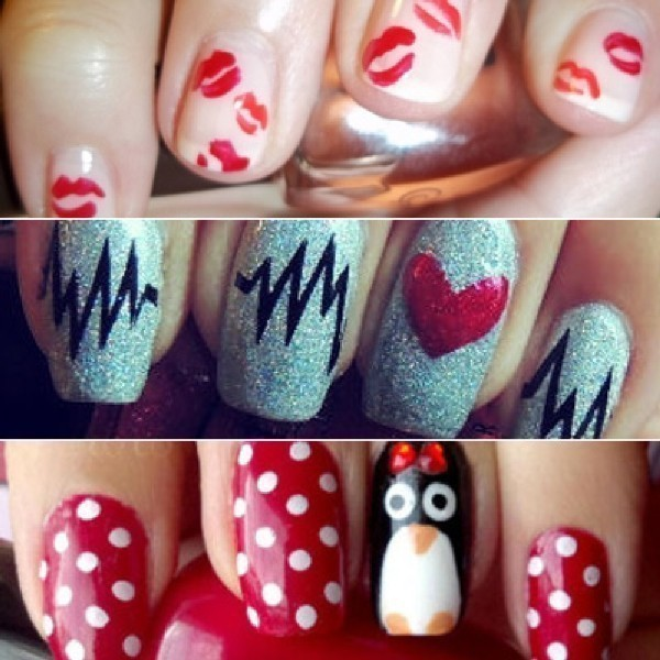 Valentines-Day-Nails-2017-66 50+ Lovely Valentine's Day Nail Art Ideas 2020