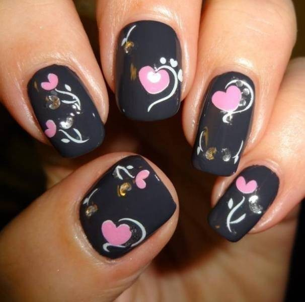 Valentines-Day-Nails-2017-72 50+ Lovely Valentine's Day Nail Art Ideas 2020