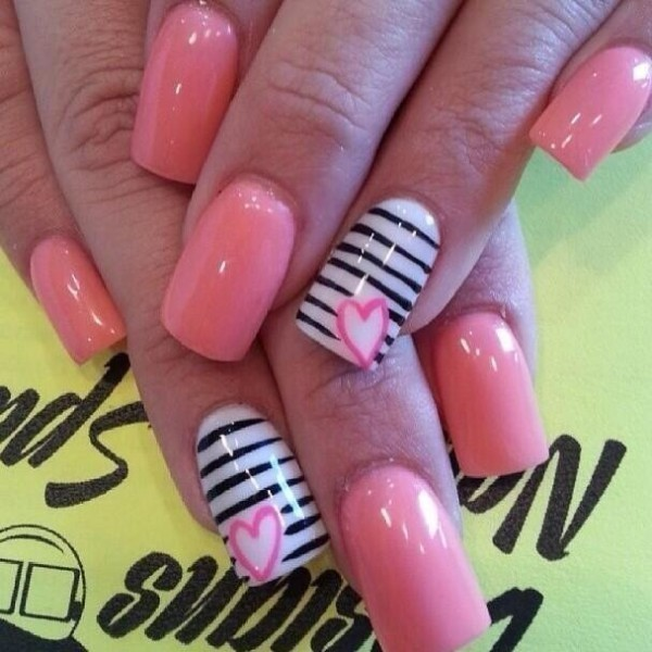 Valentines-Day-Nails-2017-73 50+ Lovely Valentine's Day Nail Art Ideas 2017