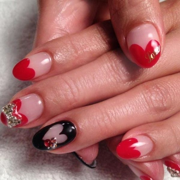 Valentines-Day-Nails-2017-74 50+ Lovely Valentine's Day Nail Art Ideas 2018