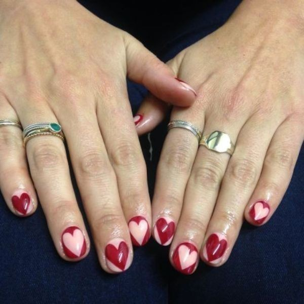 Valentines-Day-Nails-2017-76 50+ Lovely Valentine's Day Nail Art Ideas 2017