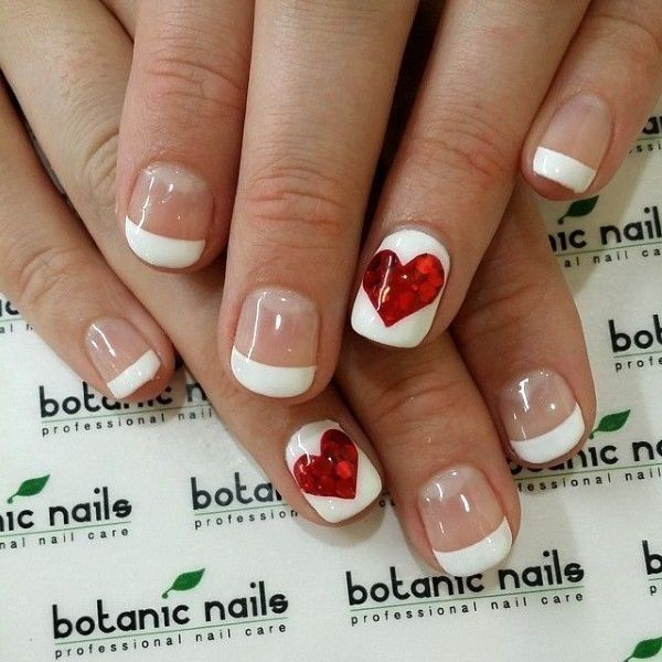 Valentines-Day-Nails-2017-77 50+ Lovely Valentine's Day Nail Art Ideas 2018