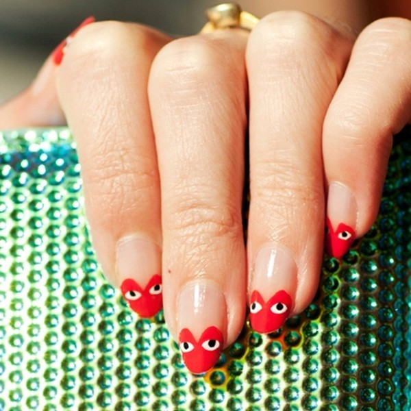 Valentines-Day-Nails-2017-78 50+ Lovely Valentine's Day Nail Art Ideas 2018