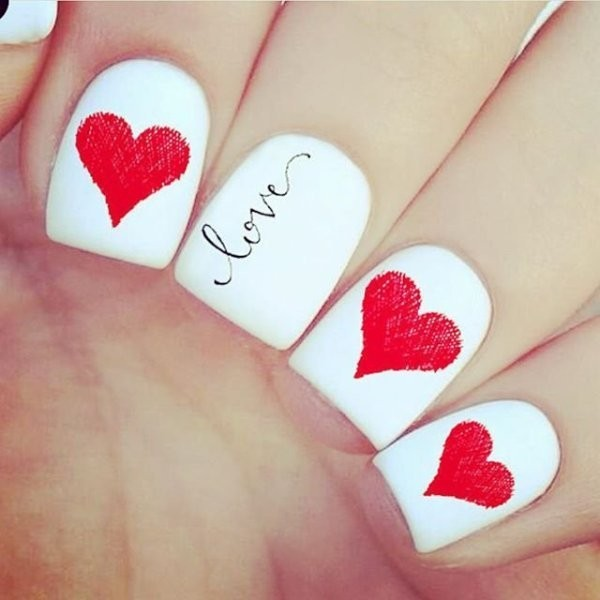 Valentines-Day-Nails-2017-81 50+ Lovely Valentine's Day Nail Art Ideas 2020