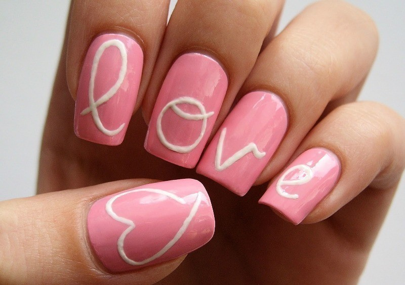 Valentines-Day-Nails-2017-85 50+ Lovely Valentine's Day Nail Art Ideas 2018