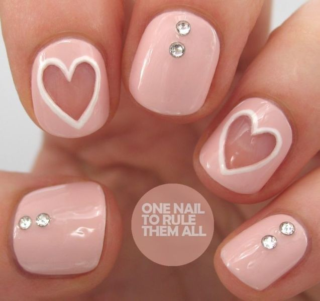 Valentines-Day-Nails-2017-87 50+ Lovely Valentine's Day Nail Art Ideas 2018