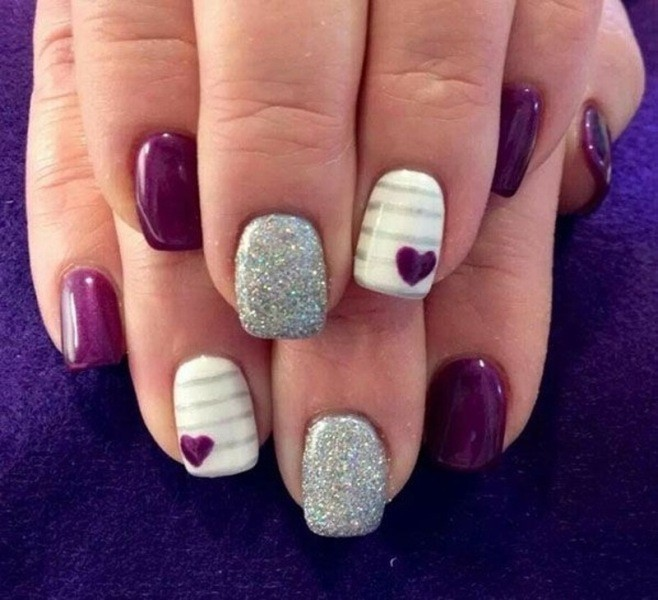 Valentines-Day-Nails-2017-88 50+ Lovely Valentine's Day Nail Art Ideas 2018