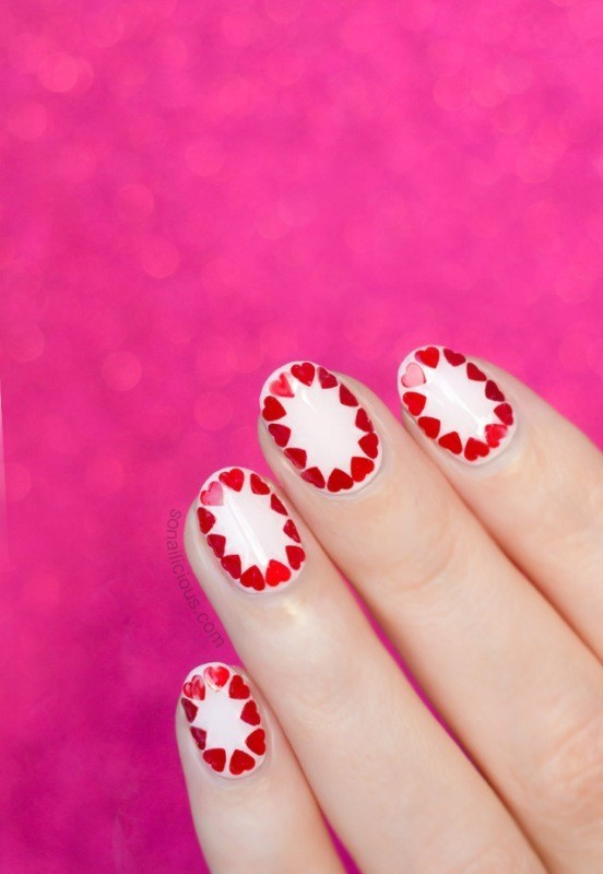 Valentines-Day-Nails-2017-9 50+ Lovely Valentine's Day Nail Art Ideas 2018