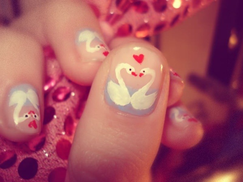 Valentines-Day-Nails-2017-92 50+ Lovely Valentine's Day Nail Art Ideas 2020