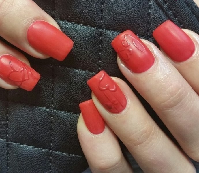Valentines-Day-Nails-2017-94 50+ Lovely Valentine's Day Nail Art Ideas 2018