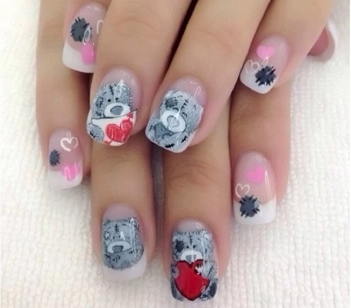 Valentines-Day-Nails-2017-96 50+ Lovely Valentine's Day Nail Art Ideas 2018