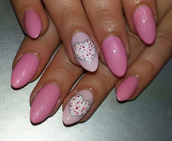 Valentines-Day-Nails-2017-97 50+ Lovely Valentine's Day Nail Art Ideas 2020