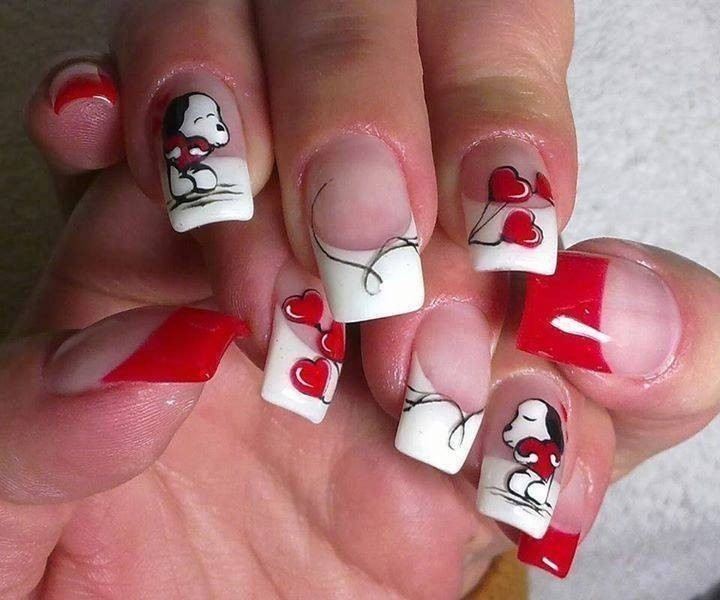 Valentines-Day-Nails-2017-98 50+ Lovely Valentine's Day Nail Art Ideas 2018
