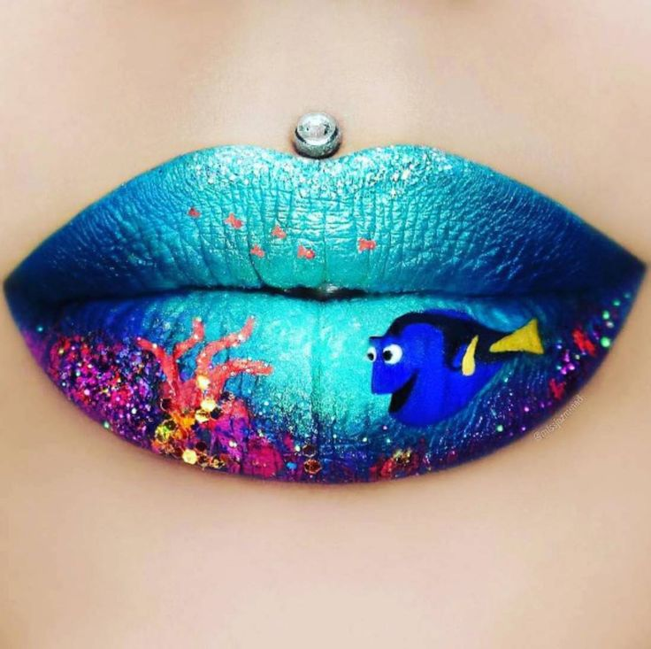 af9f29b80b223b3597da8ed6c8851294 16 Creative Lip Makeup Arts