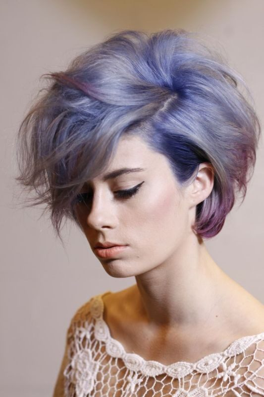 blonde-and-pastels-1 80+ Marvelous Color Ideas for Women with Short Hair