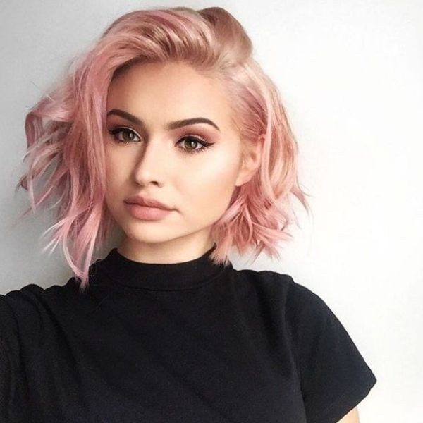 blonde-and-pastels-12 80+ Marvelous Color Ideas for Women with Short Hair in 2018