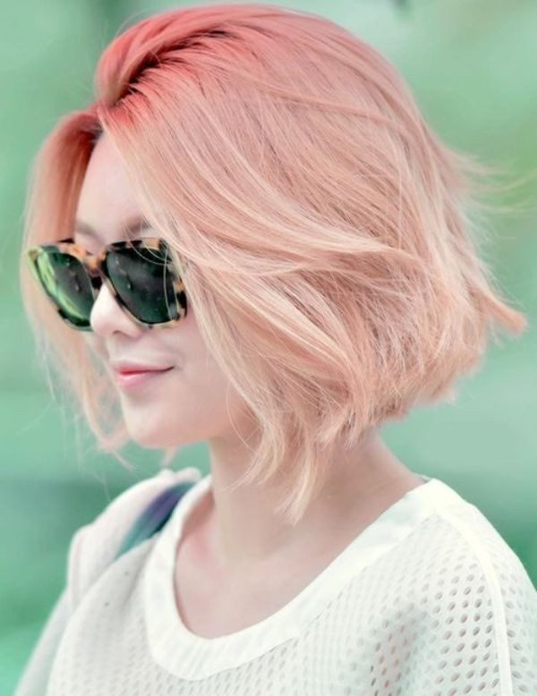 blonde-and-pastels-19 80+ Marvelous Color Ideas for Women with Short Hair