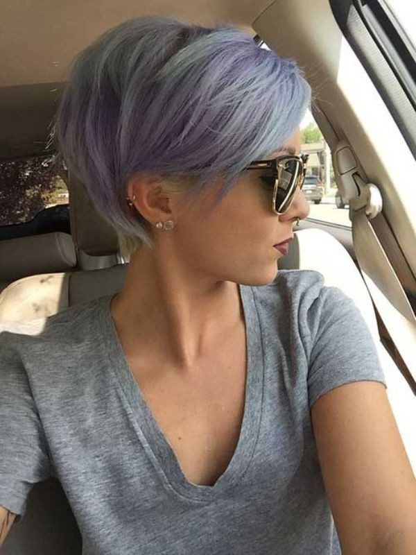 blonde-and-pastels-23 80+ Marvelous Color Ideas for Women with Short Hair