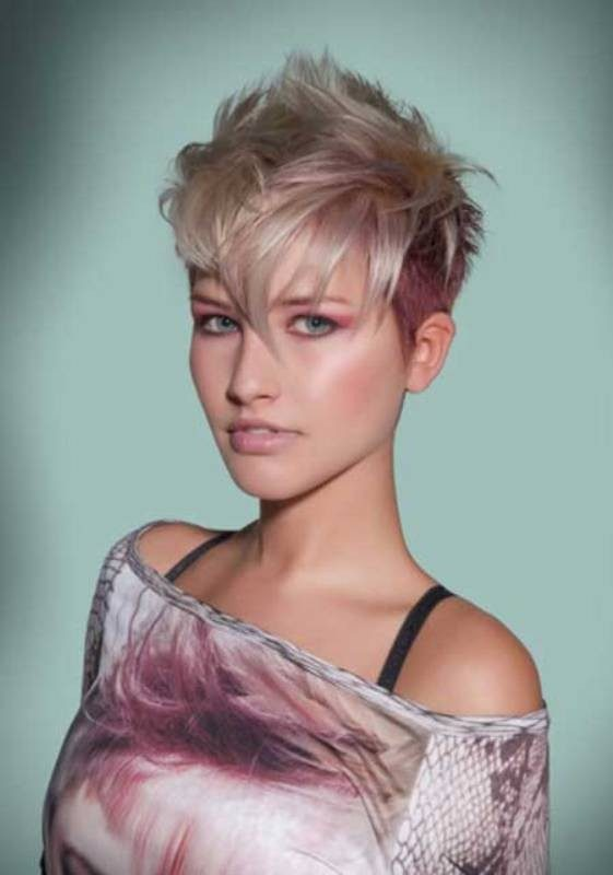 blonde-and-pastels-6 80+ Marvelous Color Ideas for Women with Short Hair