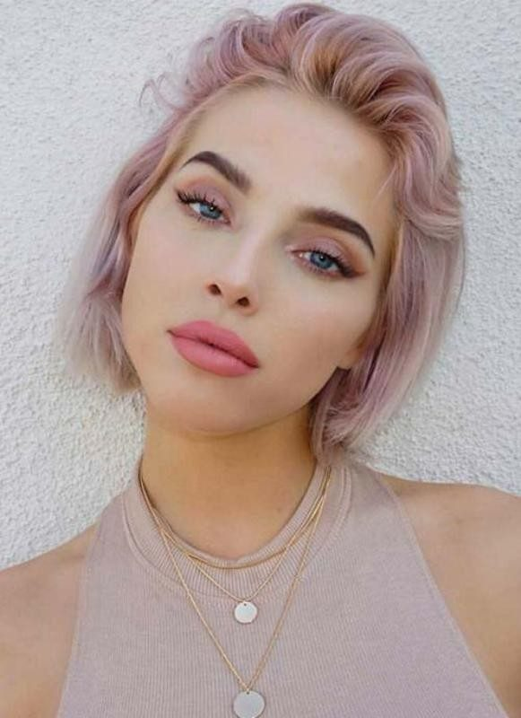 blonde-and-pastels-8 80+ Marvelous Color Ideas for Women with Short Hair