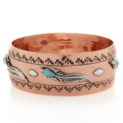 c-chaco-canyon-southwest-feather-copper-and-silver-bangle-d-20120613104604553181154-475x475 75 Most Healthy Medical Accessories And Bracelets