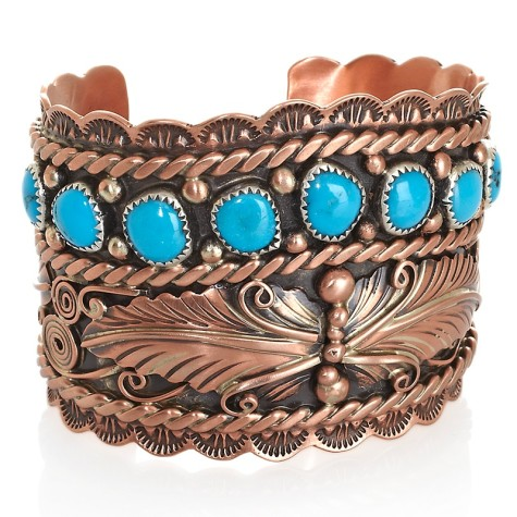 c-chaco-canyon-sw-turquoise-copper-leaf-cuff-bracelet-d-20120613115116827180976-475x475 75 Most Healthy Medical Accessories And Bracelets