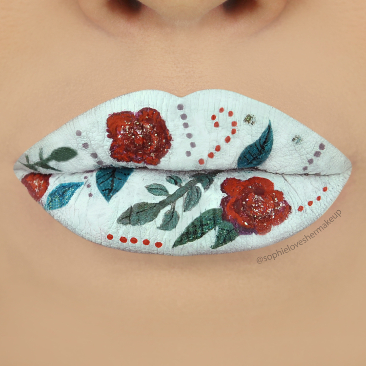 flowerlips2 16 Creative Lip Makeup Arts