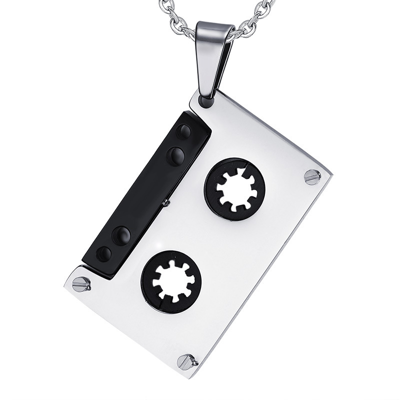 font-b-Tapes-b-font-pendant-punk-rock-style-Stainless-steel-men-s-font-b Top 10 Unusual Necklace Jewelry Trends