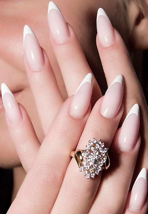 french-stiletto-nails-1 125 years of Fingernails Trends Development