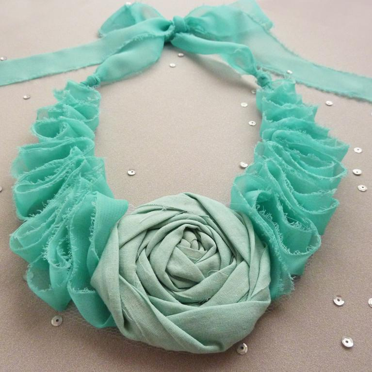 full_8698_2672_EleganceFabricNecklace_1 Top 10 Unusual Necklace Jewelry Trends