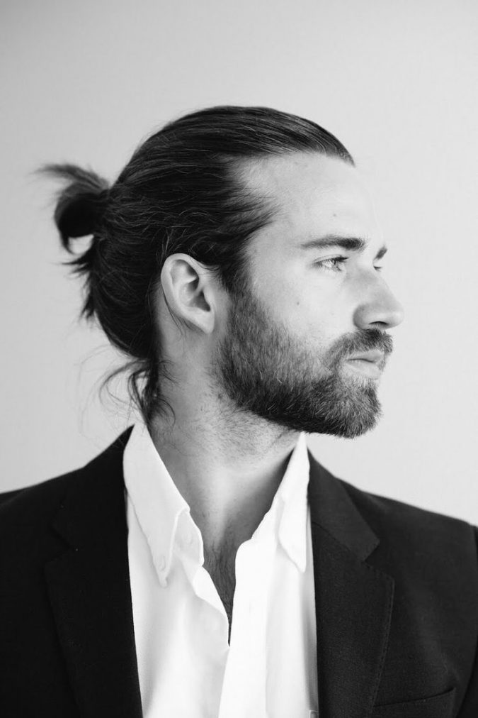 half-bun-675x1012 35 Stellar Men's Hairstyles for Spring and Summer 2018