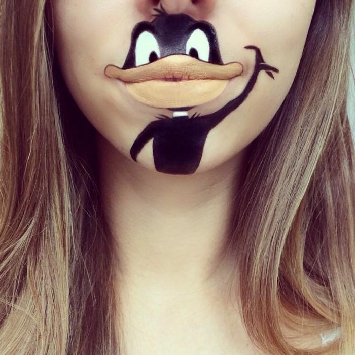 laura-jenkinson-lips-make-up-comicfiguren-donald-duck 16 Creative Lip Makeup Art Trends in 2018