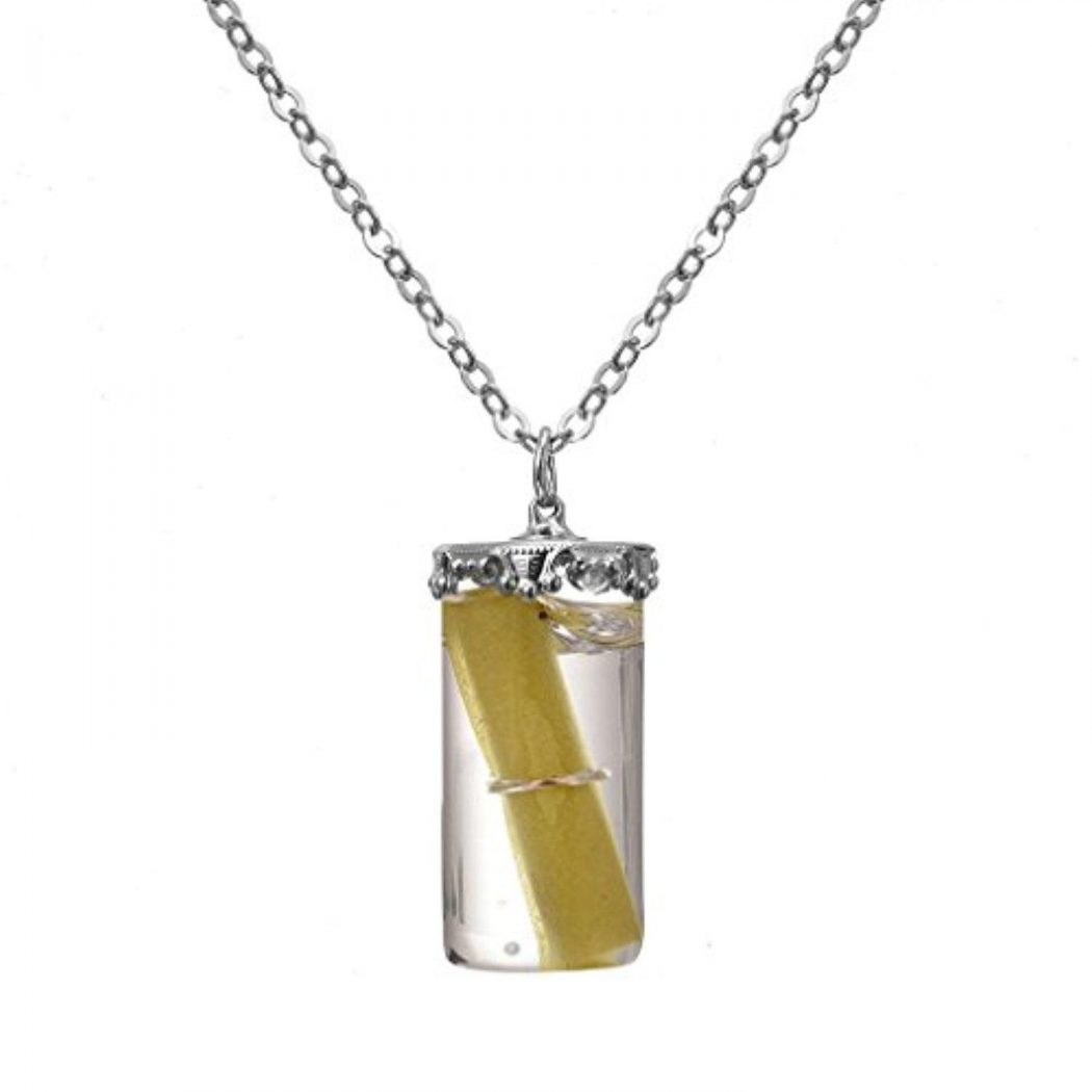 liebe-engel-women-pillar-wish-bottle-pendant-necklace-fashion-liquid-chain-necklace 10 Most Unusual Necklaces You Will Ever See