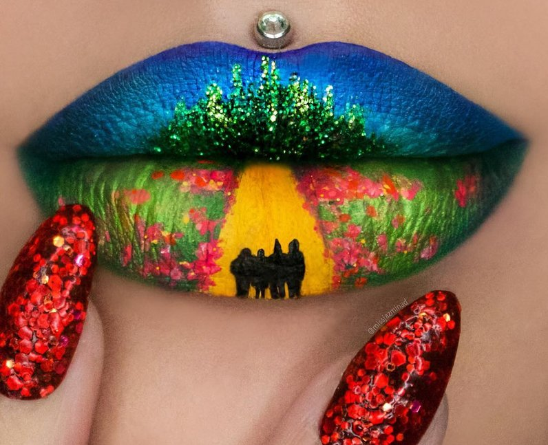 lip-art-wizard-of-oz-1468406454-view-0 16 Creative Lip Makeup Arts