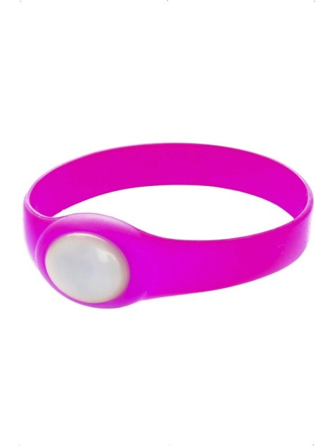 neon-pink-rubber-bracelet-with-flashing-led-20447-475x633 75 Most Healthy Medical Accessories And Bracelets