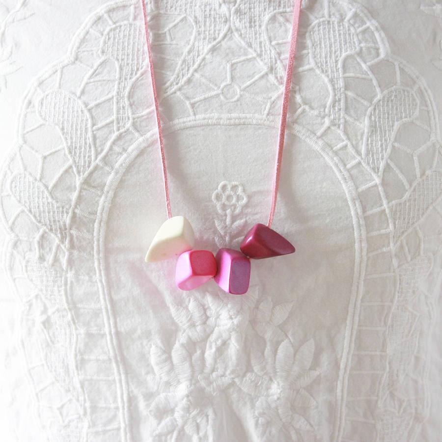 original_ombre-grey-eco-wooden-nuggets-suede-necklace Top 10 Unusual Necklace Jewelry Trends