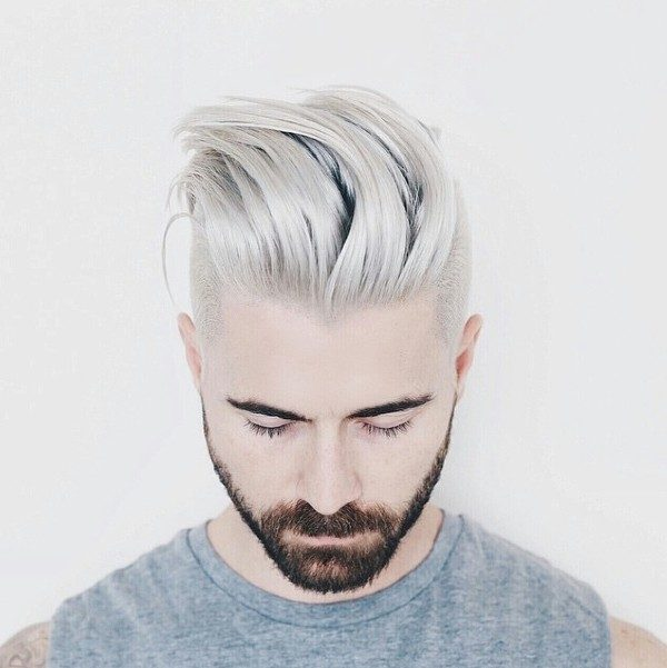 platinum-blonde-6 50+ Hottest Hair Color Ideas for Men in 2019