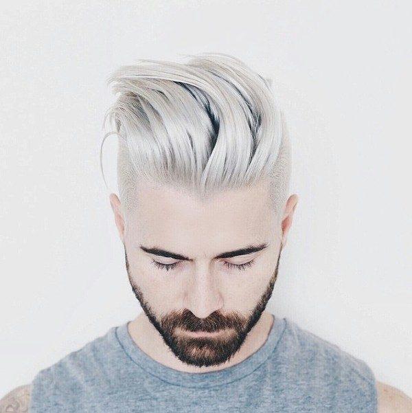 platinum-blonde-6 50+ Hottest Hair Color Ideas for Men in 2020
