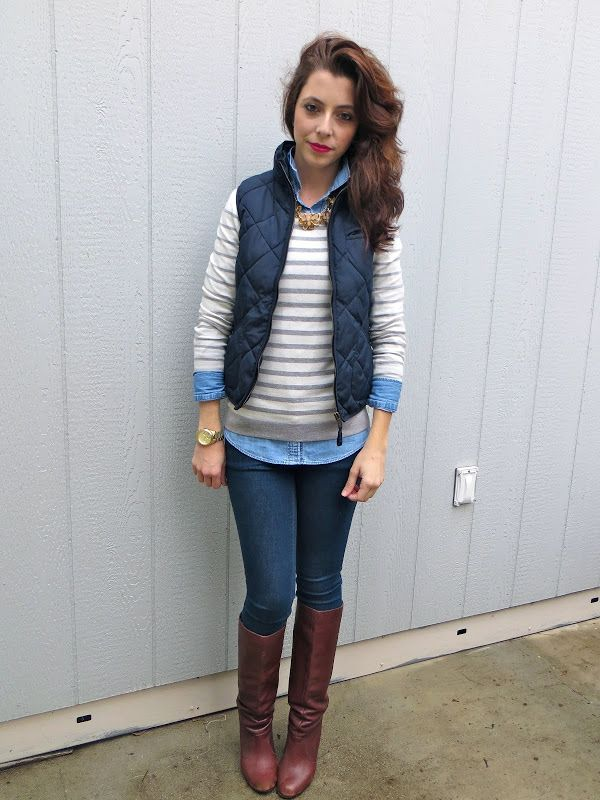 puffy-vest-outfit25 5 Casual Winter Outfits for Elegant Ladies