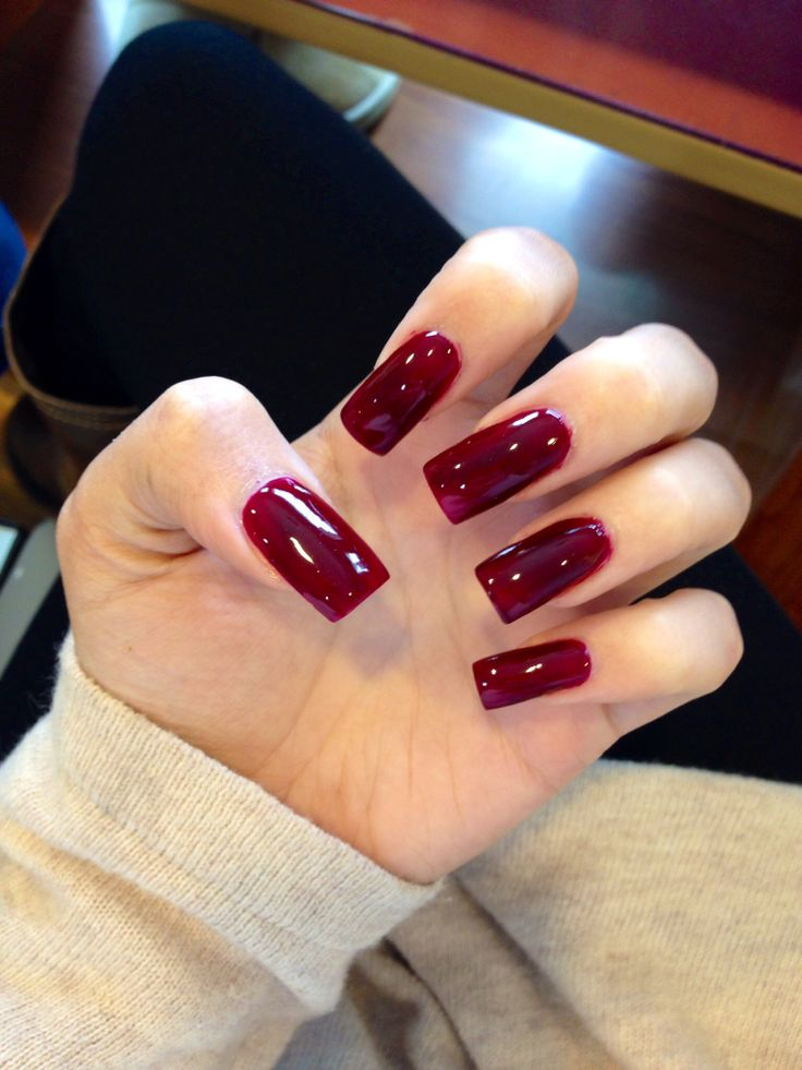 red_square_nails 125 years of Fingernails Trends Development