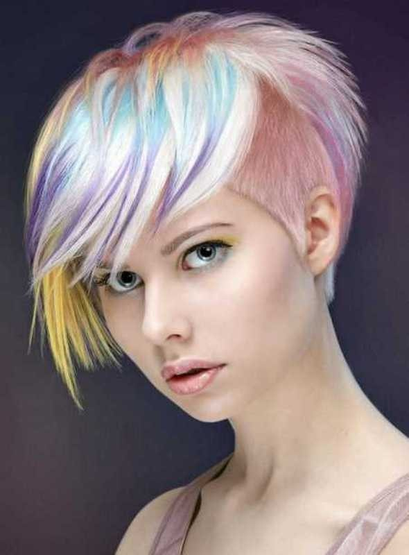 several-colors-10 80+ Marvelous Color Ideas for Women with Short Hair in 2018
