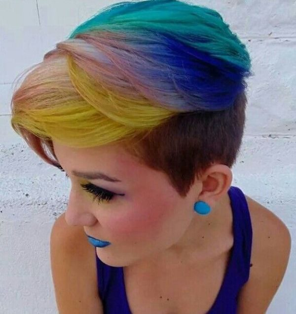 several-colors-12 80+ Marvelous Color Ideas for Women with Short Hair in 2018