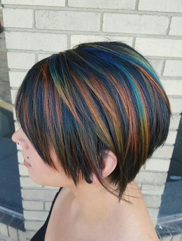 several-colors-16 80+ Marvelous Color Ideas for Women with Short Hair
