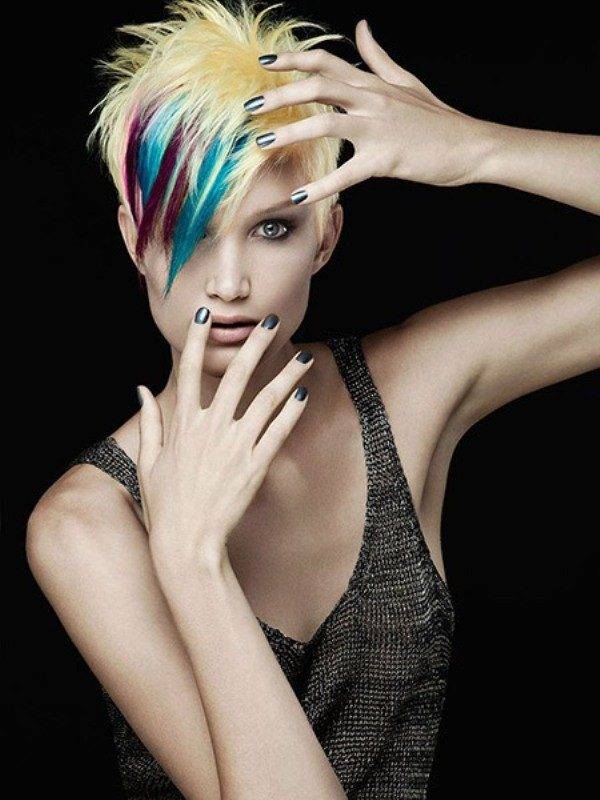 several-colors-19 80+ Marvelous Color Ideas for Women with Short Hair