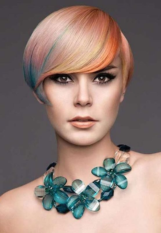 several-colors-7 80+ Marvelous Color Ideas for Women with Short Hair