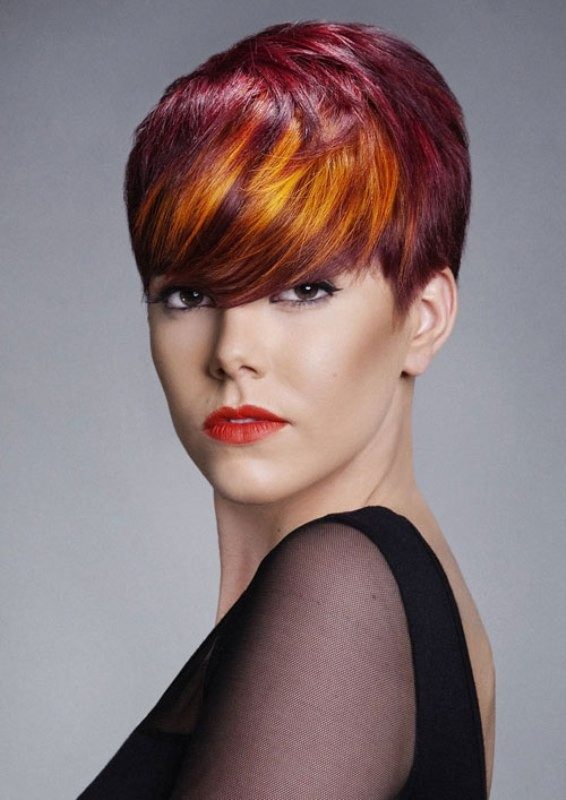 several-colors-8 80+ Marvelous Color Ideas for Women with Short Hair