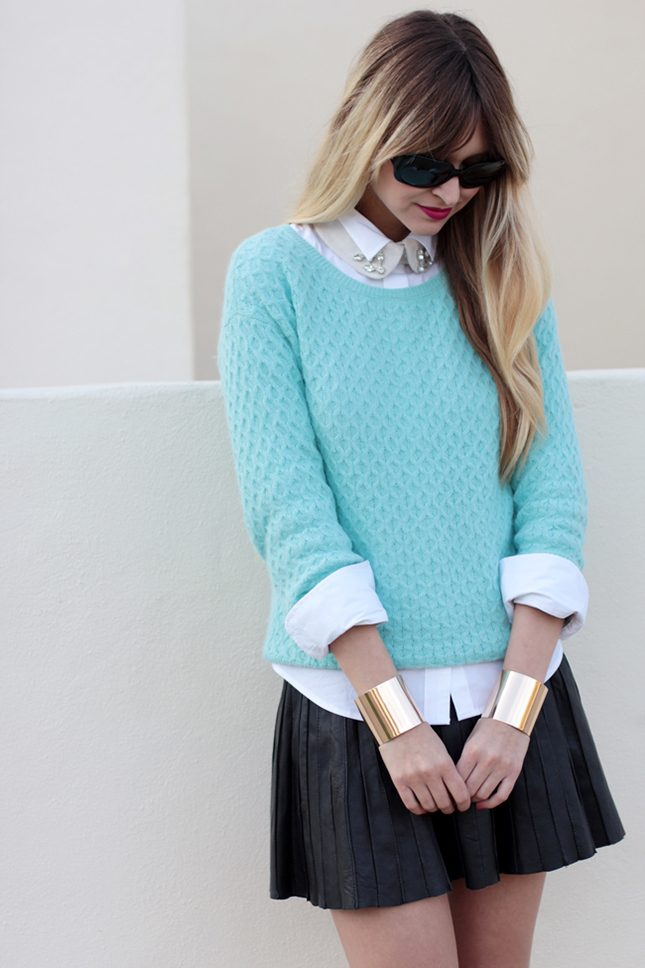 sweater-and-shirt-outfit4 5 Casual Winter Outfits for Elegant Ladies