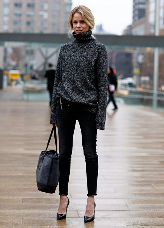 turtleneck-sweater-675x934 5 Casual Winter Outfits for Elegant Ladies