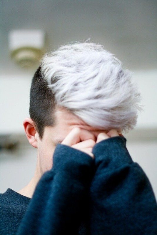undyed-sides-3 50+ Hottest Hair Color Ideas for Men in 2020